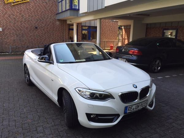 Ausflüge mit unserem BMW Cabrio